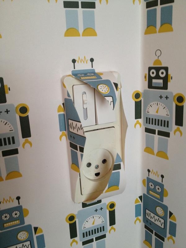 Robot tapet fra ferm LIVING.