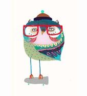 col2_owl-skater_ashley-percival_unique-home-decor