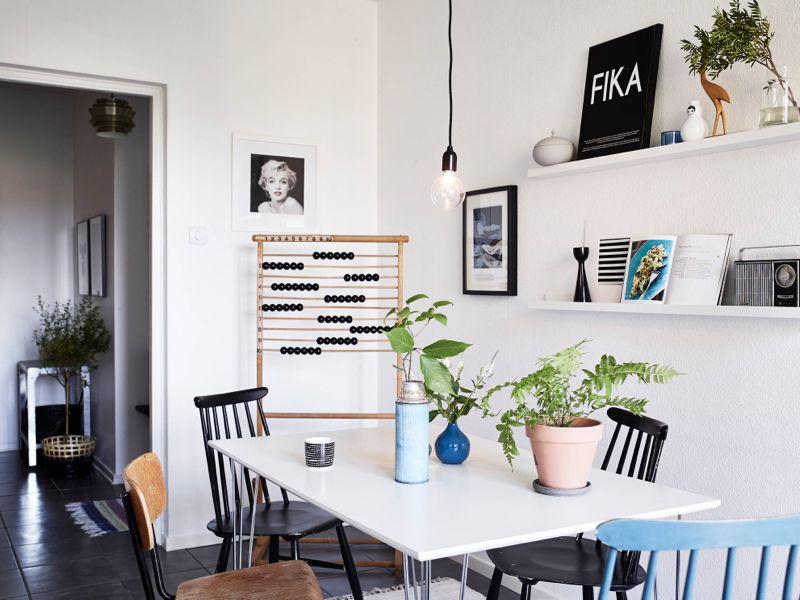 Moderne bolig i vintagestil
