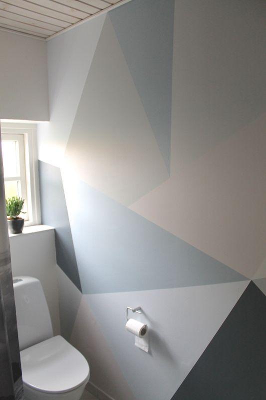 trekanter på væg